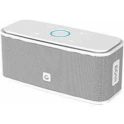 Enceinte Bluetooth 12W, DOSS SoundBox Haut-Parleur Bluetooth sans Fil Portable,Commande Tactile et Définition Stéréo, 12 Heures d'Autonomie en Lecture,Mains Libres Téléphone, Carte TF Support.- Blanc