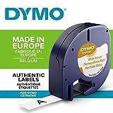 Dymo LetraTag etichette per stoffe e tessuti Stirabile, rotolo da 12 mm x 2 m, stampa nera su bianco, S0718850