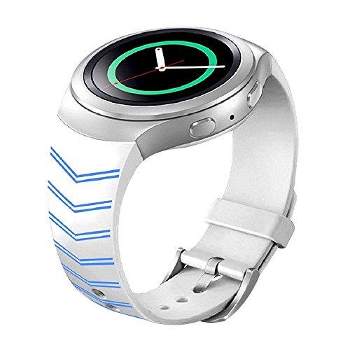 Forepin® Morbido Cinturino di ricambio in silicone Cinturino per Samsung Galaxy Gear S2 SM-R720 Lusso impermeabile regolabile Watch Bracciale polso cinghia Sostituzione Sport Smart Watch Band