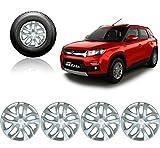 #3: VAIBN - Premium Quality Full Wheel Cover Cap VITARA BREZZA 16 INCH SILVER