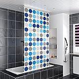 Homelux Duschrollo Duschvorhang Bad Deckenbefestigung Halbkassette Seitenzug Links oder rechts montierbar 120 x 240 cm Circle