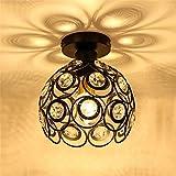 Kronleuchter 60W Luxus Kronleuchter Kristall Lampe Licht Deckenleuchte LED Unterputz Wohnzimmer/Restaurant/Küche Moderne Leuchte 110-240V (Schwarz)