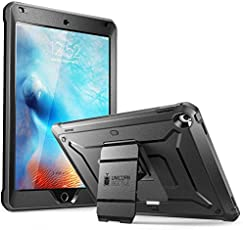Case for New iPad 9.7,SUPCASE [Heavy Duty] [Unicorn Beetle Pro Series] Full-Body Rugged Protective Case with Built-in Screen Protector & Dual Layer Design for Apple iPad 9.7 inch 2017 (Black/Black)
