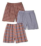 Fruit of the Loom Men's  Assorted Tartan Plaids Woven Boxers (Colors/Patterns Will Vary),Assorted Tartan Plaids,Large(Pack of 3)