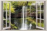 #10: Friends Office Automation 3D Depth Illusion Vinyl Wall Decal Sticker,Size: 90 cm X 60 cm (3 Feet X 2 Feet),(Green),(Gentle Waterfalls, 90 cm X 60 cm)