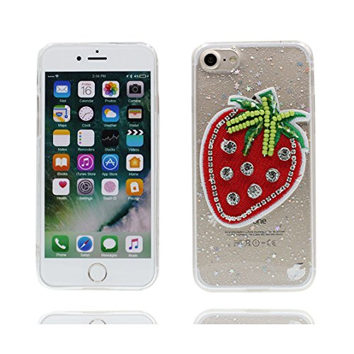 Custodia iPhone 7 Plus, Silicone trasparente Case iPhone 7 Plus copertura Cover e ring supporto Shell Graffi Resistenti - 3D coniglio Cute Color - 2