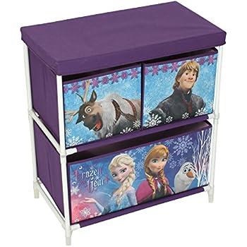 disney reine des neiges enfants jouet meuble de rangement tissu violet 60 x 53 x 30 cm. Black Bedroom Furniture Sets. Home Design Ideas