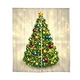 Baoblaze Set di Tendine Tende Drappeggio di Finestra per Dorazione della Casa per Feste di Natale - 75x166cm - # 2