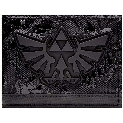 Cartera Legend of Zelda Relieve Hyrule Reino Negro