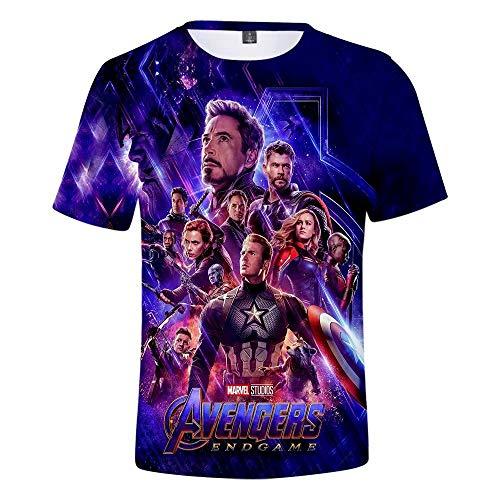 T-Shirt Unisex 3D Superheld gedenken Cosplay Kostüm Shirt - Superheld Shirt Casual T-Shirts - Shirt gedenken Vater von Marvel Geschenk für Marvel-Fans Super Soft Cotton T-Shirt (Für Erwachsene Superhelden-t-shirts)