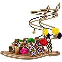 Gioseppo Amuleto, Sandalias con Punta Abierta Niñas, Varios Colores (Multicolor), 35 EU
