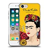 Head Case Designs Offizielle Frida Kahlo Porträt Lumig Rot Soft Gel Hülle für iPhone 7 / iPhone 8