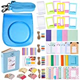 Neewer 56-en-1 Kit d'Accessoires pour Fujifilm Instax Mini 70 (Bleu): Etui de Caméra avec Bandoulière Réglable , Cadres Divers, Album, Filtres de Couleur, Autocollant de Coin, , Autocollant de Photo Films Instant