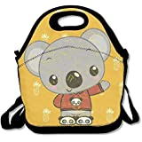 Distressed Koala Lover Panda Handy Portable Zipper Lunch Box Lunch Tote Lunch Tote Bags