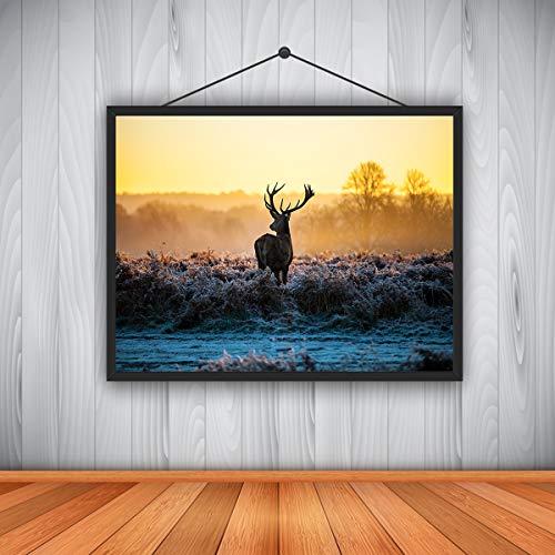 gaowei Moderne ölgemälde für hauptdekoration Tier elch Moderne HD ölgemälde Kunst ölgemälde leinwand kernkern 60X90cm=24X36 Zoll (36 Hd Zoll Tv)
