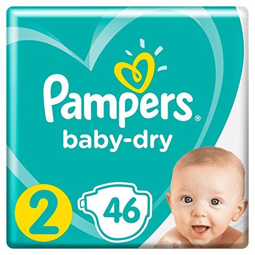 Pampers Baby-Dry, für Atmungsaktive Trockenheit, Gr.2, 46Windeln