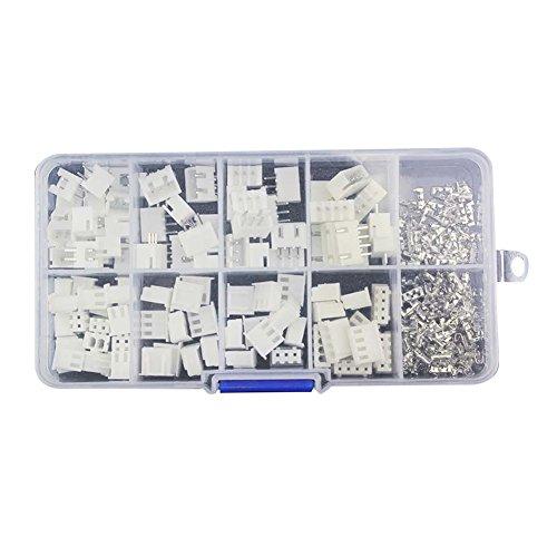 Terminal-adapter-kit (prettygood7 50pcs KIt in BOX XH2P JST-Stecker Kit, 2,54 mm Schritt Terminal-Wire Connectors Adapter Kabel Stecker)