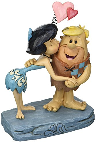 Jim Shore Flintstones Rubble Romance Betty and Barney Kissing Figurine 4051595 by Enesco -