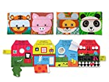 Melissa & Doug Kids Cloth Mix & Match & Have You Seen My Puppy Book Bundle