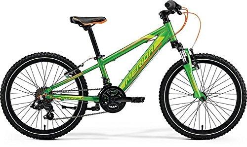 Unbekannt Kinder Fahrrad 20 Zoll grün - Merida MATTS J20 Mountainbike - Shimano Schaltung 14 Gänge