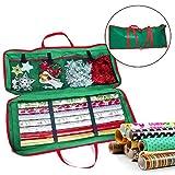 Sac de Rangement en Tissu pour Kit d'Emballage de Cadeaux - Parfait pour Ranger les Aaccessoires de Noël et le Papier Cadeau