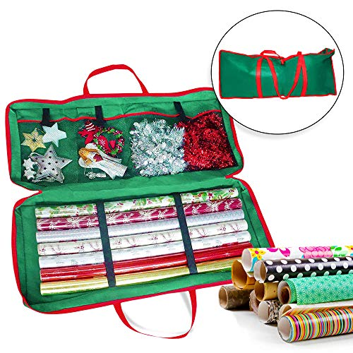 Borsa natalizia portaoggetti in tessuto - perfetta per conservare gli accessori di natale e la carta da imballaggio