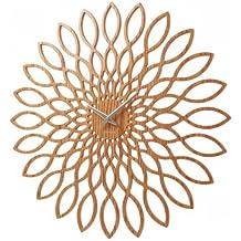 Karlsson Sunflower Orologio da Muro in legno MDF