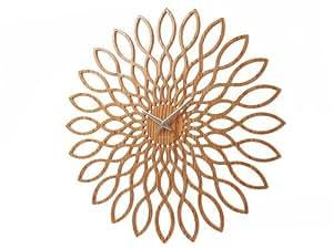 Karlsson Sunflower MDF Wood Finish Wall Clock