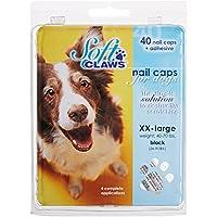 SOFTCLAWS® Krallenschutzes für Hunde Große XX-Large Farbe Schwarz