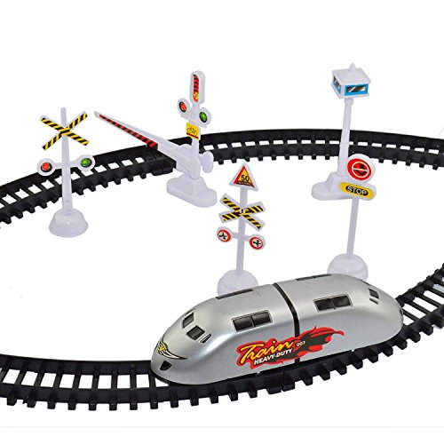 INFInxt Plastic High-Speed Metro Train with Track and Signal Accessories Battery Operated, Medium (IN-MTR-001, Multicolour)