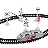 #7: Jajoria Plastic High-Speed Metro Train with Track and Signal Accessories Battery Operated, (Multicolou
