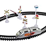 Funnytool High Speed Battery Operated Train Set for Kids (Small Metro)