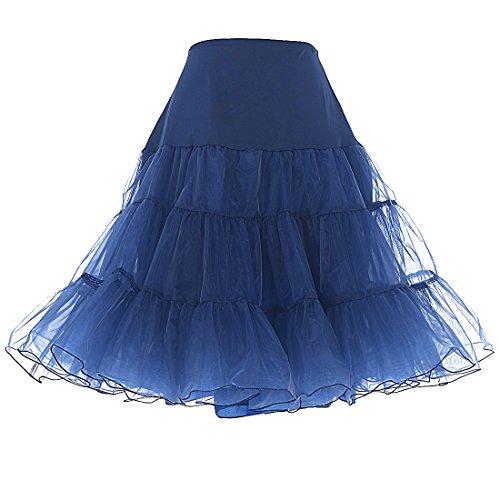 Dresstells 1950 Petticoat Reifrock Unterrock Petticoat Underskirt Crinoline für Rockabilly Kleid Navy M
