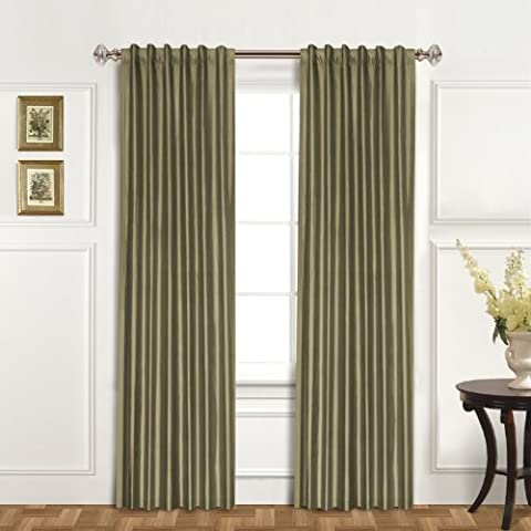 United Curtain 100-Percent Dupioni Silk Window Curtain Panel, 42 by 95-Inch, Sage