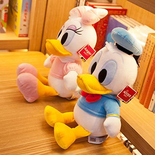 yfkgh Disney Donald Duck, Puppe Plüschtier, Stoffpuppe, Kindertag Geburtstagsgeschenk Mädchen@Paar Anzüge_Echte 12 Zoll (ca. 45 cm Gesamtlänge) (Donald Duck Anzug)