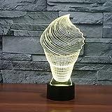 Forma de helado de la novedad 3D luz de la noche 7 colores que cambian de acrílico usb lámpara de escritorio visual decoración para el hogar led de noche sueño regalo de iluminación