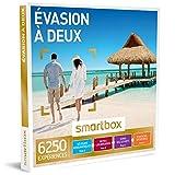SMARTBOX - Évasion à deux - Coffret cadeau couple - À choisir parmi 6250 expériences : week-end insolite en yourte, nuit dans un château, modelage du corps, dîner savoureux ou encore vol en ULM