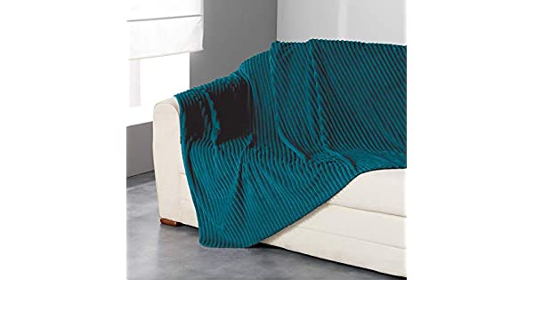 iDiffusion Plaid Flanelle Jacquard Zeline Bleu Canard 125 x 150 cm