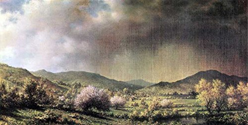 Das Museum Outlet - Art Postkarte - Spring Rain, The Valley von Connecticut von Martin Johnson Heade - Set 12 Stück Postkarten