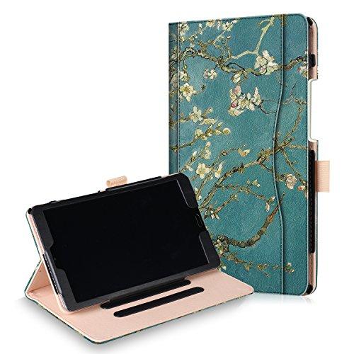 Xuanbeier Huawei MediaPad M5 8.4 Hülle Ultra Slim Leichtgewicht Leder Ständer Schutz Hülle mit Auto Sleep/Wake Funktion für Huawei MediaPad M5 8,4 Zoll Aprikosenblüte