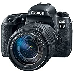 Canon EOS 77D 24.2MP Digital SLR Camera + EF-S 18-135mm 3.5-5.6 IS USM Lens