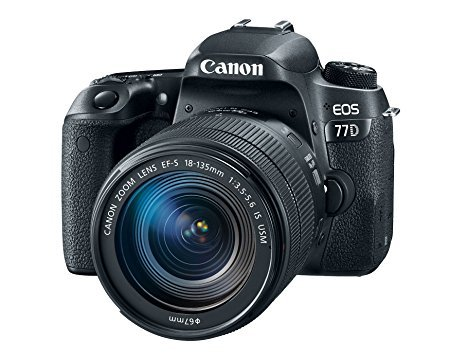 Canon EOS 77D 24.2MP Digital SLR Camera + EF-S 18-135mm...