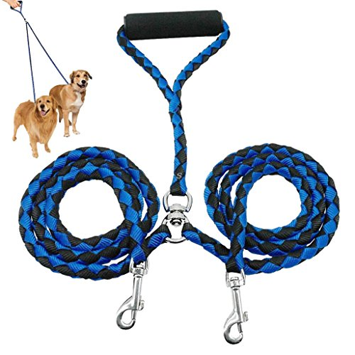 borte Double Dog Coupler Lead, No Tangle Two 2 Dog Leash and Splitter for Walking Puppy Small Medium Large dog