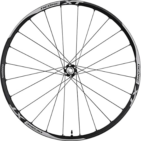 Shimano Deore Rueda con freno de disco para bicicleta, Negro - negro, Front - 15mm