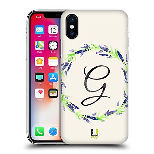 Head Case Designs J Plumerias Corona Di Fiori Cover Retro Rigida per Apple iPhone X G Lavanda