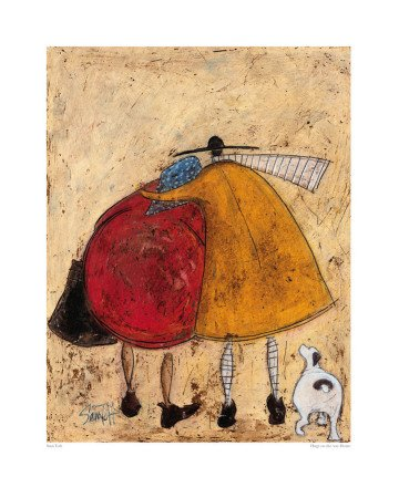 Hugs on the Way Home Art Poster Print by Sam Toft, 41x51