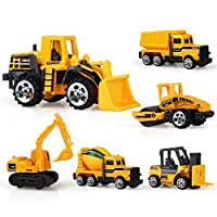 ACHICOO 6pcs Simulate Inertia Engineering Vehicle Set Kids