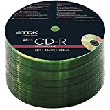 TDK 25-200 PACK CDR BLANK DISCS CD-R RECORDABLE...