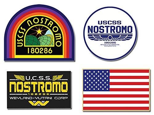Preisvergleich Produktbild Nostromo Weyland Yutani Corp Sulaco Alien, Aliens Aufkleber , 4 Laminiert Sticker set