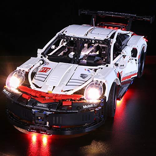 YVSoo LED Licht-Set für Baustein Spielzeug LED Beleuchtung Kit für Lego 42096 Technic Porsche 911 RSR - Modell Nicht Enthalten